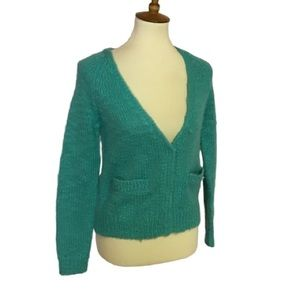 Urban outfitters ecote turquoise cropped cardigan